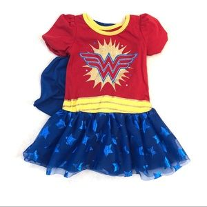 DC Wonder Woman Toddler Girls Dress Costume 2T